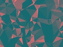Struttura astratta Una struttura con le ombre e un volume multicolori e bei, fatto con l'aiuto di una pendenza e di un fille geom Immagine Stock Libera da Diritti