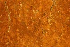 Struttura astratta unica - minerale di ferro d'arrugginimento su una superficie di pietra che crea un modello della ruggine Immagine Stock Libera da Diritti