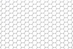 Struttura atomica di Graphene, fondo di nanotecnologia illustrazione 3D Immagine Stock