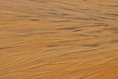 Struttura bagnata della sabbia Fotografia Stock Libera da Diritti