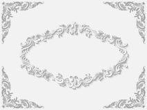 Struttura barrocco bianca d'annata di stile di vettore royalty illustrazione gratis