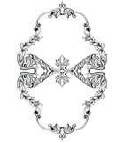 Struttura barrocco imperiale dello specchio Vector gli ornamenti ed i cristalli complessi ricchi di lusso francesi Decorazione re Fotografia Stock