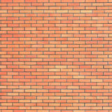 Struttura beige rossa del muro di mattoni, fondo verticale del modello, grungy naturale del grande del muro di mattoni della copi Fotografie Stock Libere da Diritti