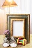 Struttura benvenuta del regalo del bambino decorata Fotografie Stock