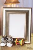 Struttura benvenuta del regalo del bambino decorata Fotografie Stock Libere da Diritti
