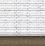 Struttura bianca astratta del muro di mattoni della stanza Fotografia Stock Libera da Diritti