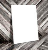 Struttura bianca in bianco del manifesto al te di legno tropicale della struttura della tela della stanza Immagine Stock Libera da Diritti