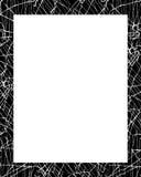 Struttura bianca con i confini decorati Immagine Stock