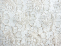 Struttura bianca del fondo del tessuto del pizzo Fotografie Stock