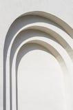 Struttura bianca del fondo della parete del gesso Immagini Stock