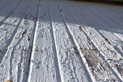 Struttura bianca del granaio Fotografia Stock