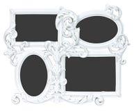 Struttura bianca della foto fatta da gesso con 4 posti Fotografia Stock Libera da Diritti