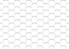 Struttura bianca della griglia a nido d'ape illustrazione di stock