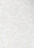 Struttura bianca delle rose del pizzo Immagini Stock