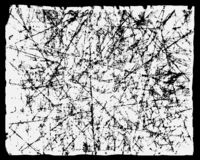 Struttura bianca di lerciume su fondo scuro L'effetto di carta graffiata e d'annata Sovrapposizione dell'illustrazione di vettore illustrazione di stock