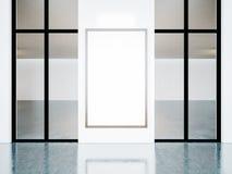 Struttura bianca nell'interno della galleria 3d rendono Fotografie Stock Libere da Diritti