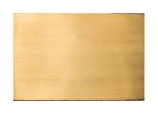 Struttura in bianco d'ottone brillante del segno del metallo fotografie stock