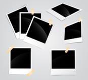 Struttura in bianco della polaroid Immagine Stock Libera da Diritti