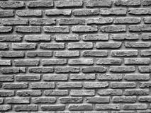 Struttura in bianco e nero alta chiusa della parete di mattoni Fotografia Stock Libera da Diritti