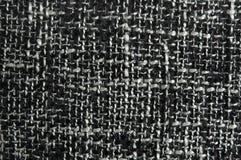 Struttura in bianco e nero del tessuto Immagini Stock Libere da Diritti