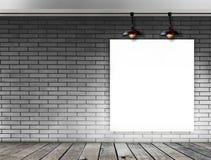 Struttura in bianco sul muro di mattoni per il messaggio informativo Immagini Stock