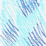 Struttura blu degli elementi di lerciume Disegnato a mano pastello illustrazione di stock