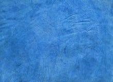 Struttura blu del cuoio genuino Immagine Stock