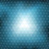 Struttura blu del fondo del mosaico Immagini Stock
