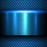 Struttura blu del metallo del fondo Immagini Stock