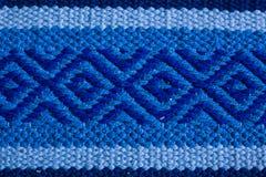 Struttura blu del tappeto, fondo Fotografia Stock