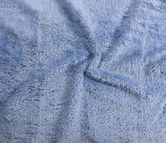 Struttura blu del tessuto Immagine Stock Libera da Diritti