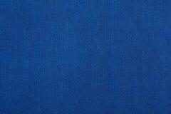 Struttura blu del tessuto Fotografia Stock Libera da Diritti