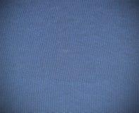Struttura blu del tessuto usata per fondo Fotografia Stock