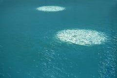 Struttura blu dell'acqua del turchese Fotografia Stock Libera da Diritti