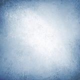 Struttura blu dell'annata del confine del fondo bianco Immagini Stock