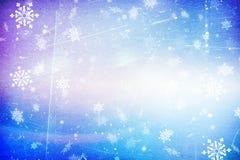 Struttura blu della neve del fondo di Natale, astrazione, fiocchi di neve royalty illustrazione gratis