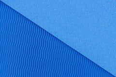 Struttura blu della stuoia di yoga Fotografia Stock Libera da Diritti
