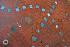 Struttura blu delle mattonelle Immagine Stock