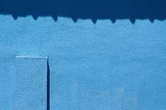 Struttura blu di lerciume, fondo blu scuro della parete Fotografia Stock