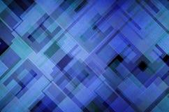 Struttura blu e verde della vecchia parete astratta del cubo Immagini Stock