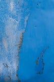 Struttura blu ed arrugginita del metallo Fotografia Stock Libera da Diritti