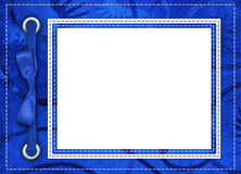 Struttura blu per le foto Fotografia Stock