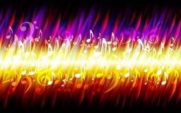 Struttura bruciante del fondo di struttura dello strato di lerciume del fuoco astratto di musica illustrazione di stock