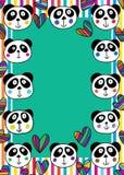 Struttura capa di amore del panda illustrazione vettoriale