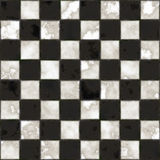 Struttura checkered in bianco e nero senza giunte Immagini Stock Libere da Diritti