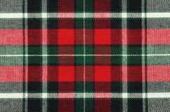 Struttura Checkered del tessuto Immagine Stock