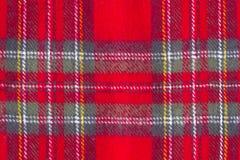 Struttura checkered di lana Fotografia Stock Libera da Diritti