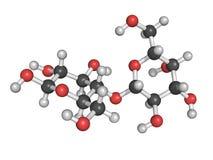 Struttura chimica di lattosio, una molecola del lattosio illustrazione vettoriale