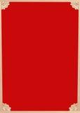 Struttura cinese su legno rosso Fotografia Stock