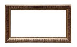Struttura classica dorata della tela di pittura Fotografia Stock